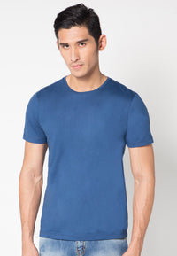 BASIC ROUND TEE DARK BLUE