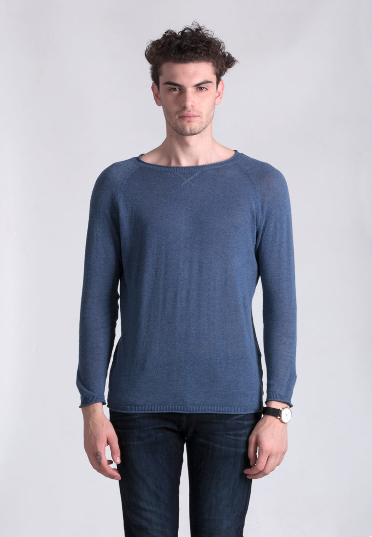 KNITTING SWEATER - BLUE