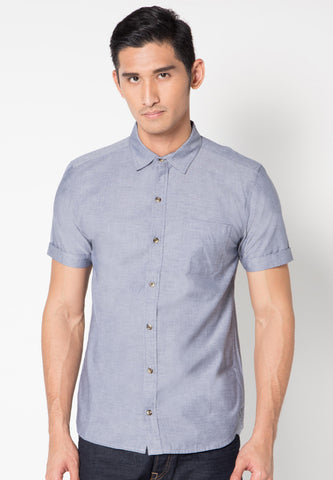 BLUE GRAY OXFORD SHIRT