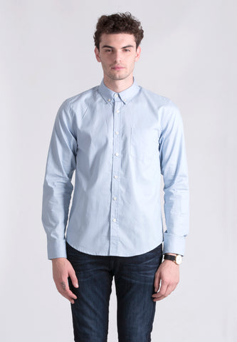 BLUE LONG OXFORD SHIRT