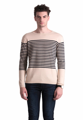 CREME STRIPES SWEATER
