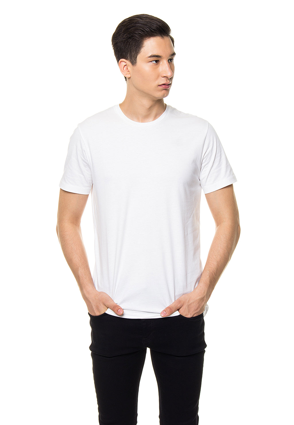 Basic Round T-Shirt - White