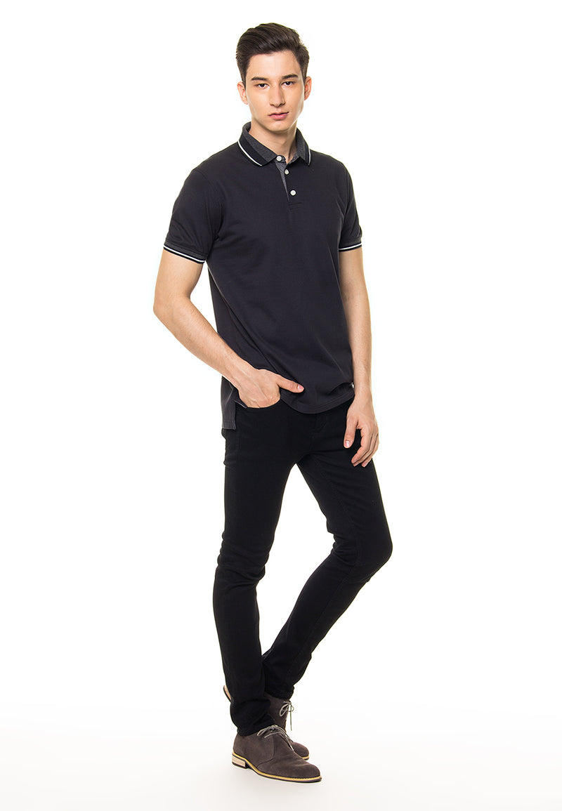 Finn Black Polo Shirt