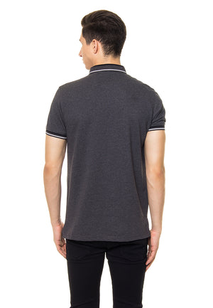 FINN MISTY BLACK POLO SHIRT