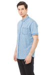 GEOMETRY LIGHT BLUE SHIRT