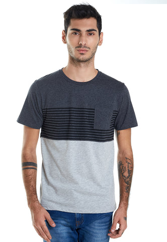 POCKET GREY STRIPED BLACK