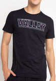 SVPERBIA Graphic Tshirt  VALEY With Zipper Black