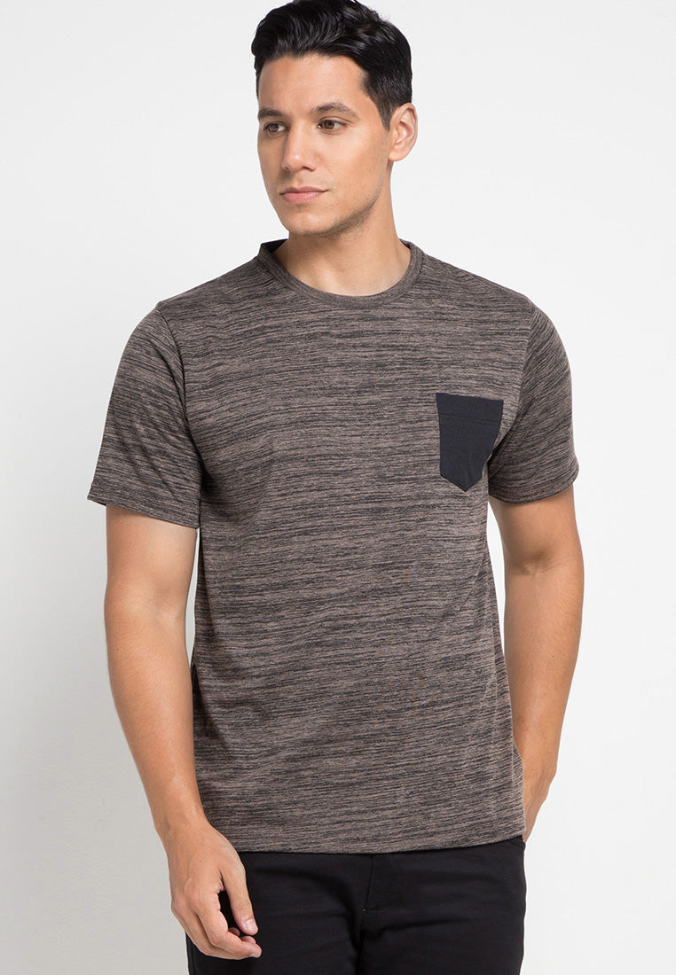 Inject Pocket Tshirt - Brown