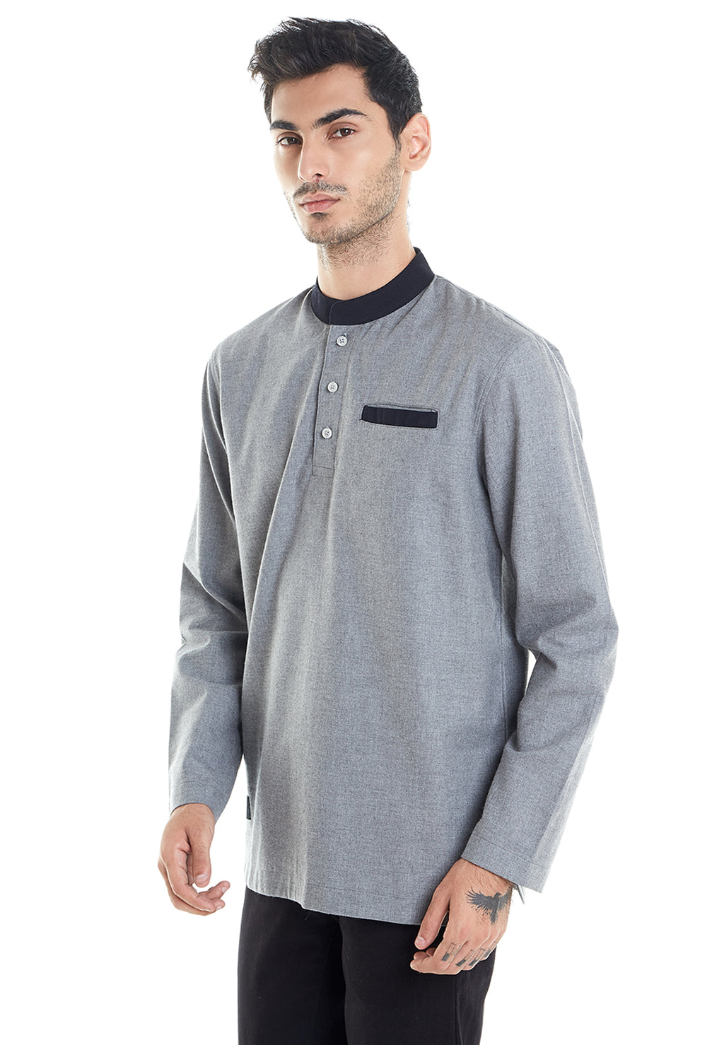 KEMKO LONG SLEEVE GREY