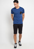 Inject Pocket Tshirt - Blue