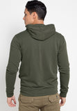 Jacket Hoodie Basic Slub - Green Army