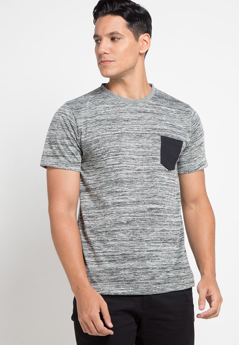 Inject Pocket Tshirt - Black