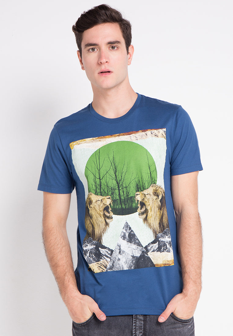 Lion Tshirt - Navy