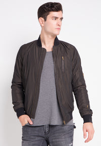 OSCAR BOMBER JACKET BROWN