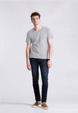 BASIC V TEE MISTY LIGHT GREY
