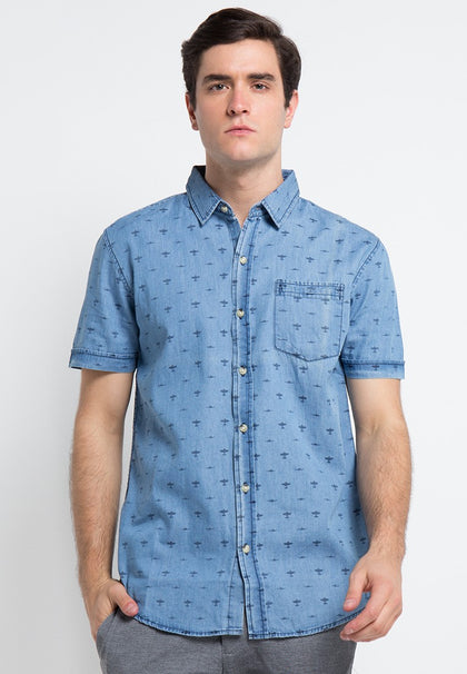 AEROPLANE DARK BLUE SHIRT