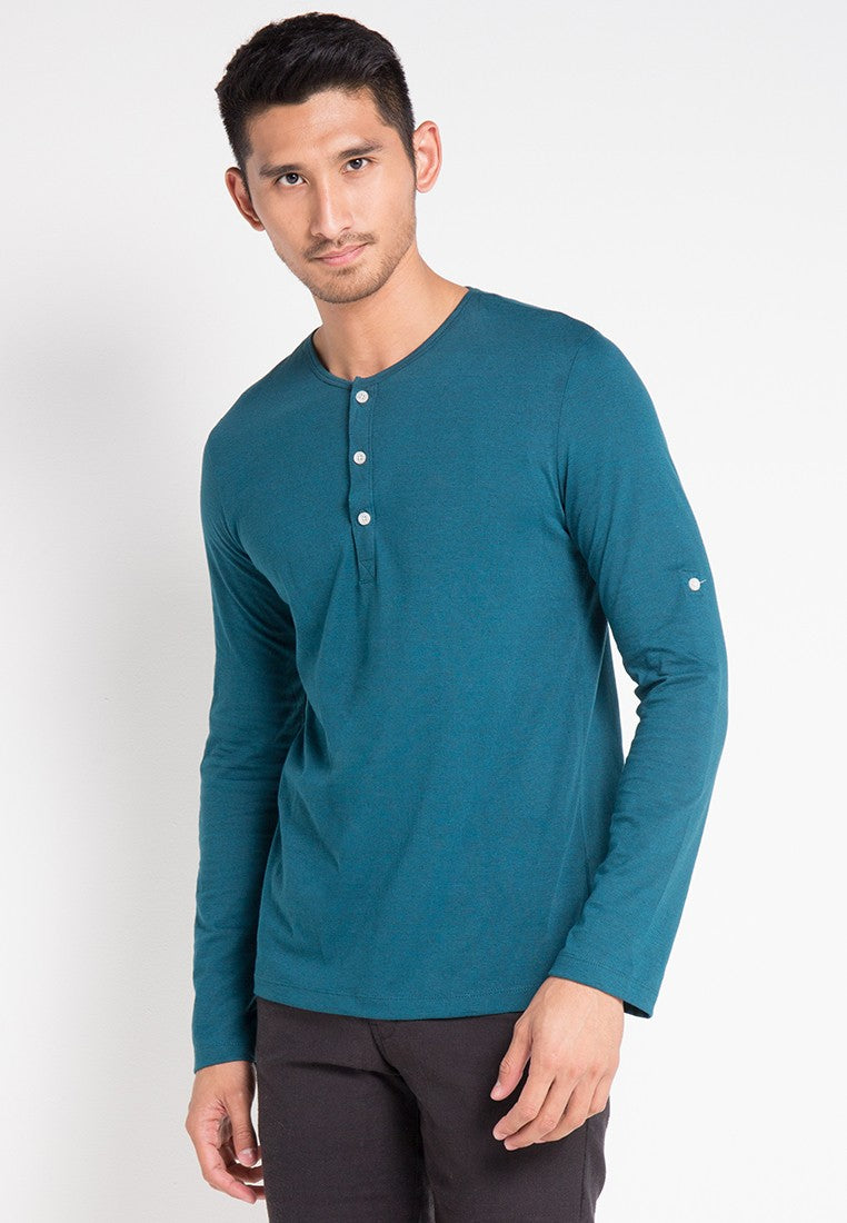 LONG SLEEVE T-SHIRT - DARK GREEN