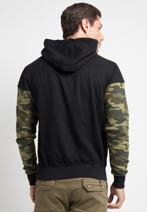 SWEATER HOODIE ARMY - GREEN