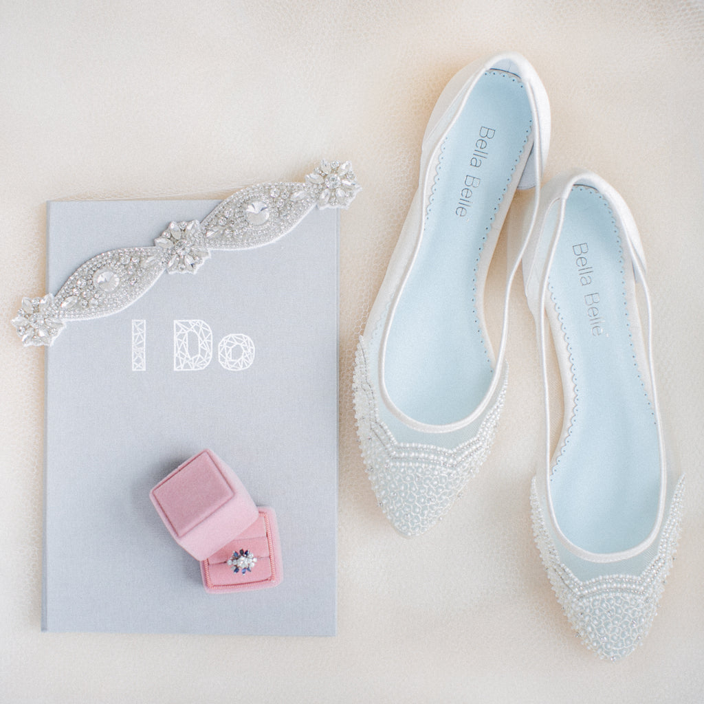 Sparkly Wedding Garters + Bella Belle Shoes = Bridal Dream Come True
