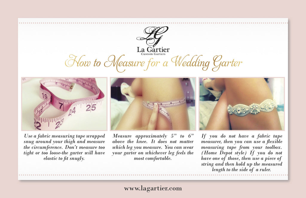 How To Measure For Your Wedding Garter