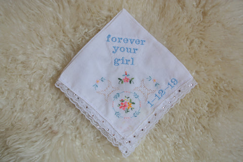 lauren burnham wedding hankie