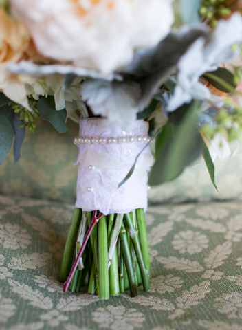 bouquet wrap pearl custom wedding