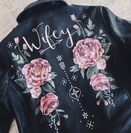 wifey leather jacket