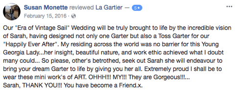 client reviews wedding garters