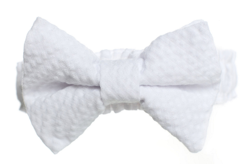 white seersucker wedding garter