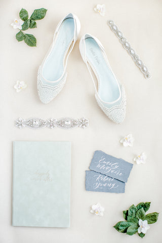 sparkly wedding garters