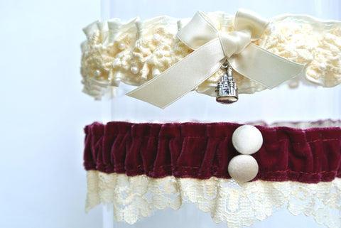 disney wedding garter