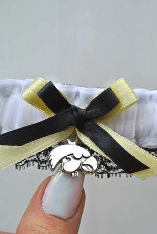 iowa hawk eyes wedding garter