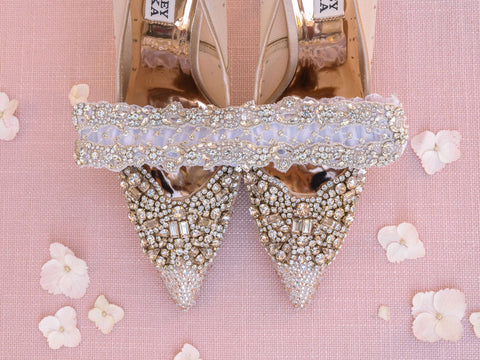 la gartier garters with crystal bling