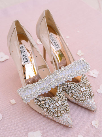 badgley mischka bridal heels la gartier wedding garters