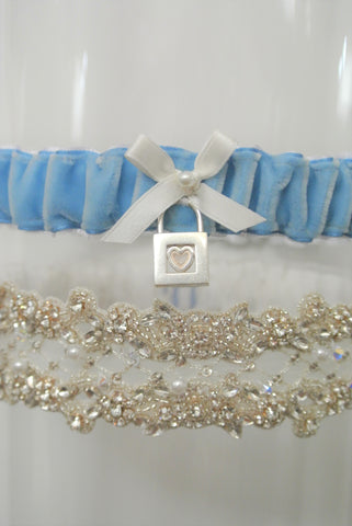 tiffany and company wedding garter set