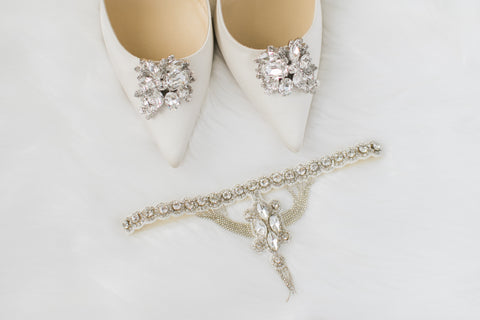 art deco wedding garters