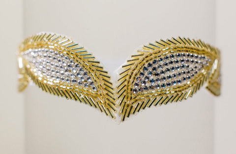 gold wedding garter