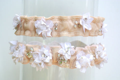 heirloom wedding garter set