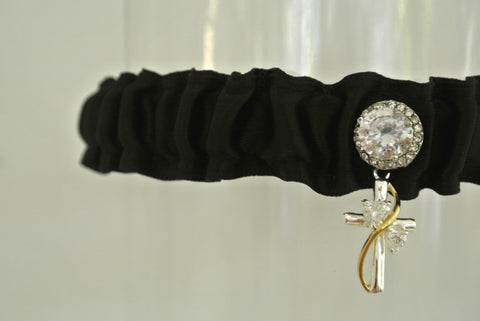 cross faith wedding garter