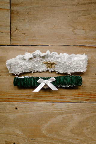 custom wedding garter set