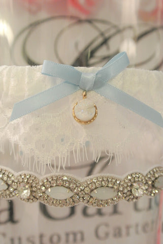 quartz wedding garter