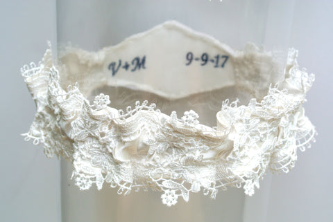 something blue embroidered garter