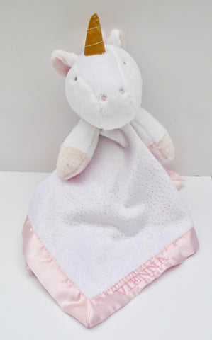 Customized Unicorn Security Blanket With Girl's Name