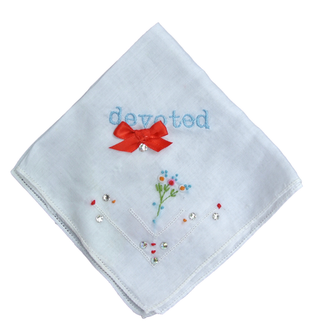 Devoted Wedding Handkerchief