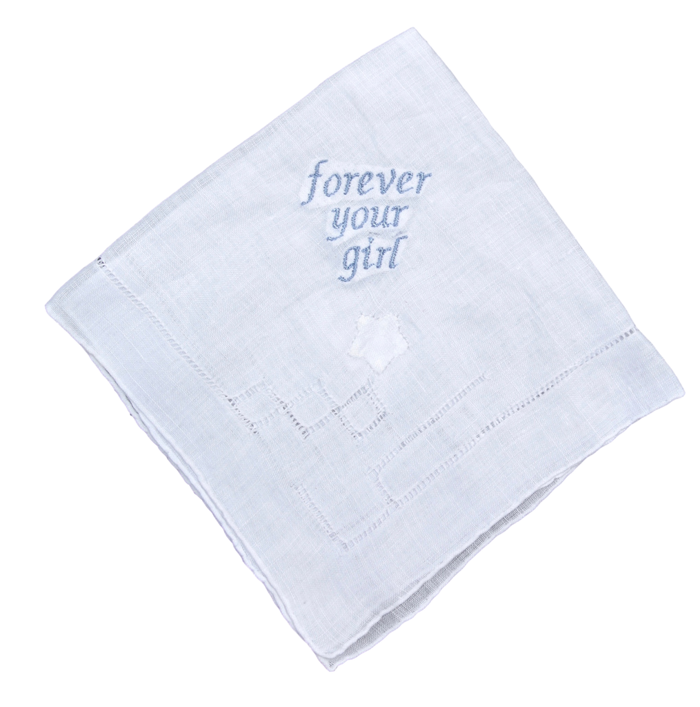 """Forever Your Girl"" Wedding hankie"