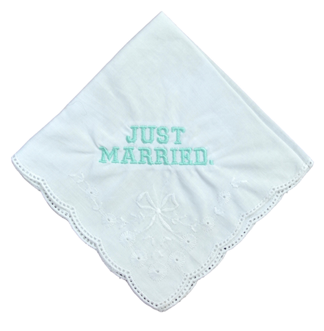 Just Married Wedding Handkerchief