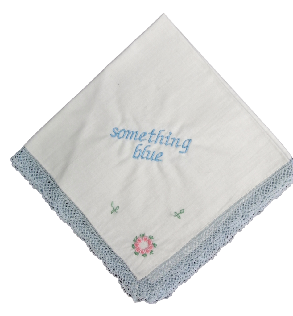 Something Blue Wedding Handkerchief