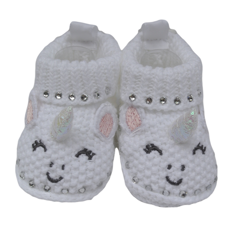 Unicorn Sparkle Baby Booties for Newborn