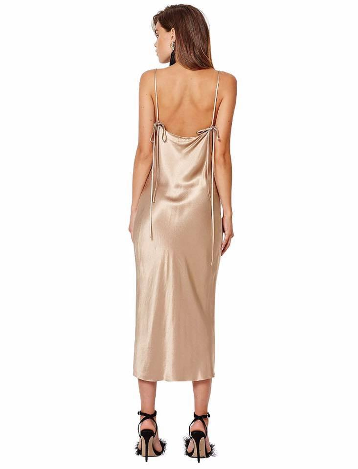 Bec & Bridge the Shimmy Nights Cowl Neck Midi