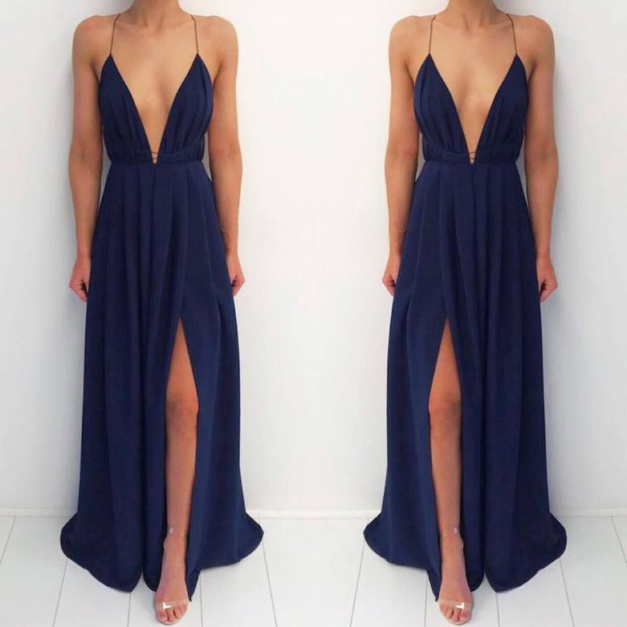 Natalie Rolt Blossom Gown- Navy